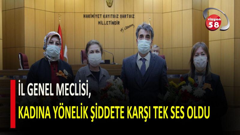 İL GENEL MECLİSİ, KADINA YÖNELİK ŞİDDETE KARŞI TEK SES OLDU