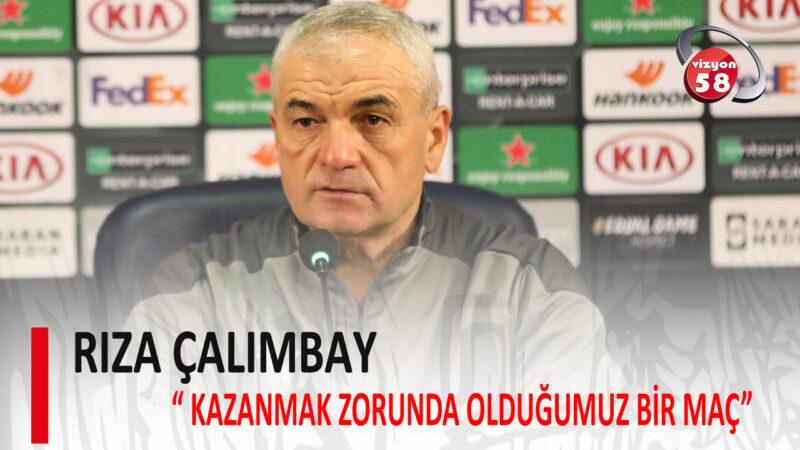 """ÇALIMBAY """" KAZANMAK ZORUNDA OLDUĞUMUZ BİR MAÇ"""""""