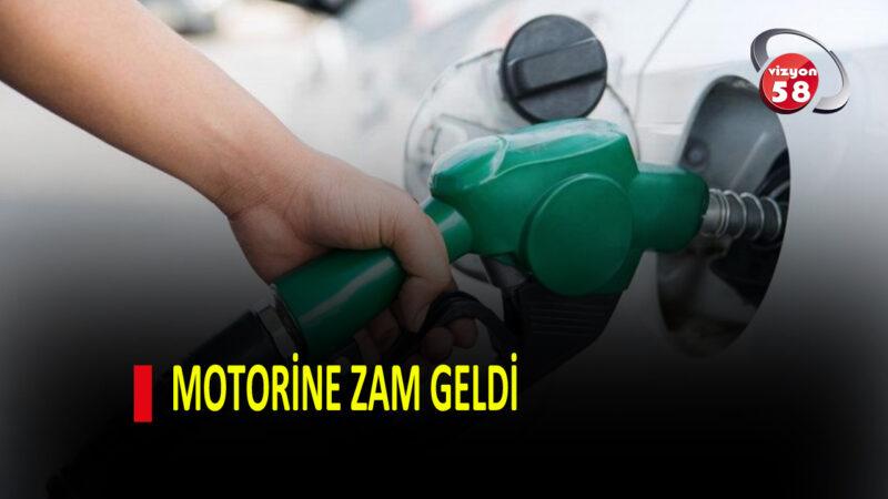 MOTORİNE ZAM GELDİ