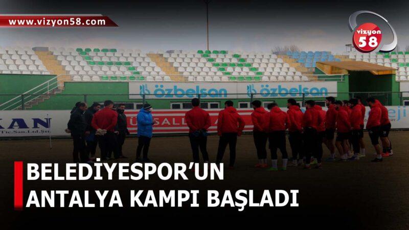 BELEDİYESPOR'UN ANTALYA KAMPI BAŞLADI