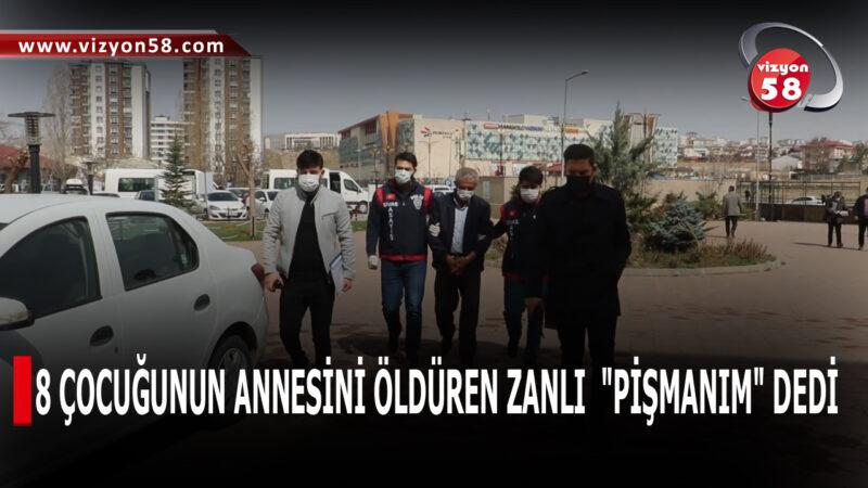 """8 ÇOCUĞUNUN ANNESİNİ ÖLDÜREN ZANLI  """"PİŞMANIM"""" DEDİ"""