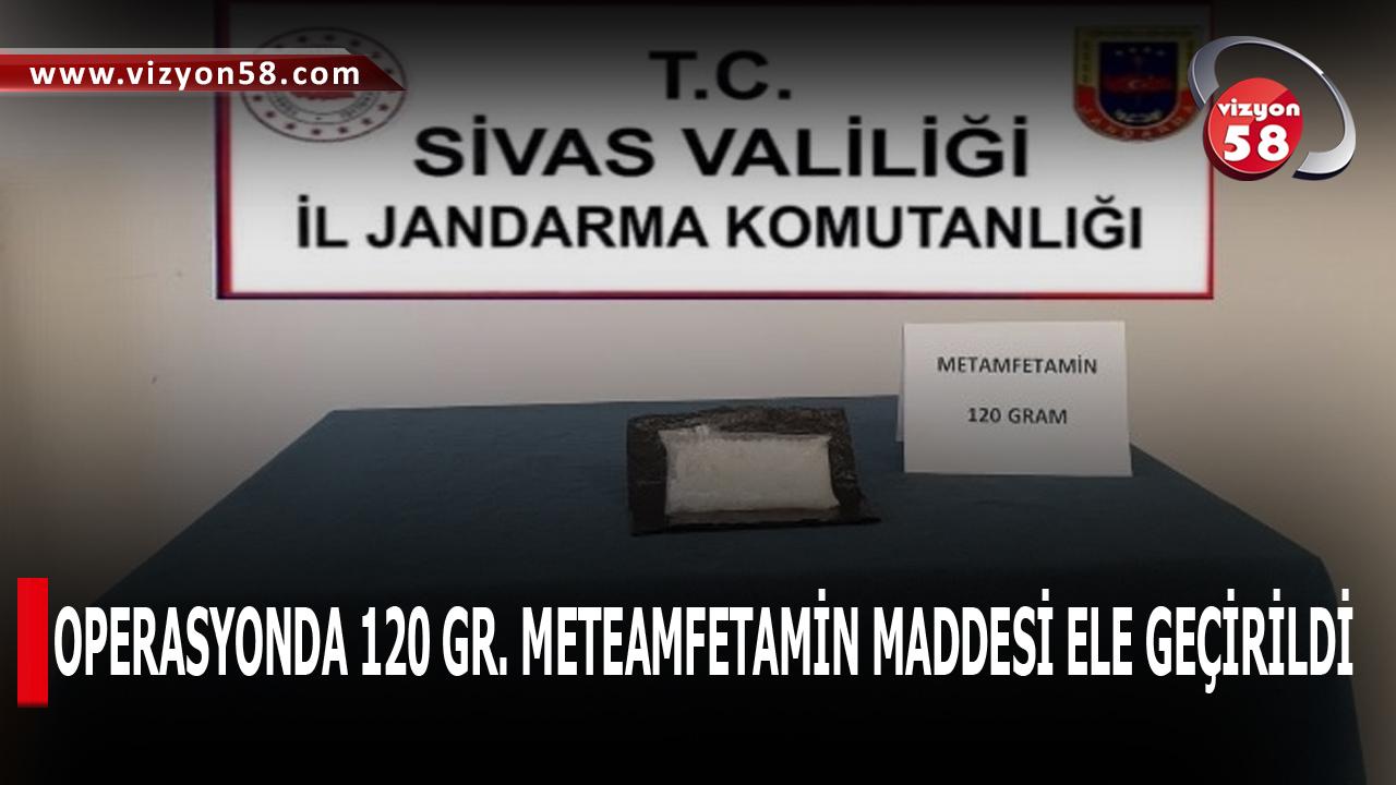 OPERASYONDA 120 GR. METEAMFETAMİN MADDESİ ELE GEÇİRİLDİ